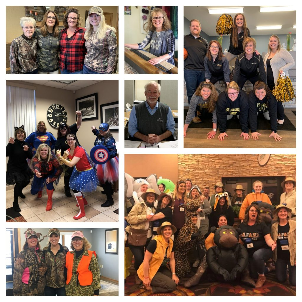 Collage Picture of U.P. State Credit Union staff
